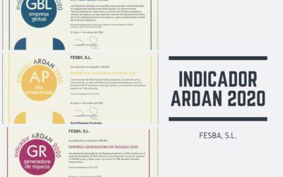 FESBA obtiene tres indicadores ARDÁN 2020